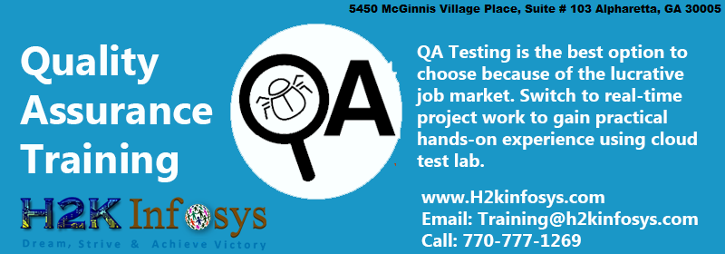 QA Training from H2K Infosys in USA