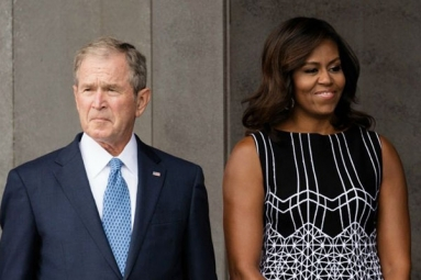 George W. Bush Passing Michael Obama Some Candy is Internet's New Obsession