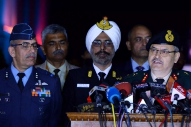 Indian Army, Navy, Air Force Joint Press Briefing
