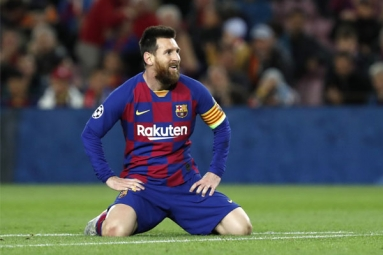 Messi gets Banned for the first time playing for Barcelona
